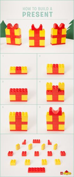 Find out how to build a cute LEGO DUPLO present that will look amazing under the tree, or as decoration on the dinner table! http://www.lego.com/family/articles/diy-gifts-stocking-stuffers-and-holiday-decorations-772261e2ebe5487a8bc837a8b473adfd