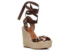 Dolce & Gabbana Pony Hair Wedge Sandal