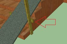 A dog ramp for the large deck staircase.