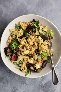 Coriander Cauliflower Amaranth Salad