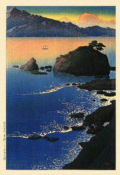 Kawase Hasui - Kude Beach, Wakasa, 1920