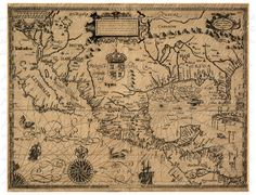 Map Of Central America From The 1600s 190 by phraseandfable