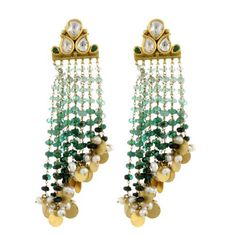 indian earrings on Stylehive. Shop for recommended indian earrings by Stylehive stylish members. Get real-time updates on your favorite indian earrings style. Diamond Drop Earrings, Emerald Earrings, Diamond Jewellery, Indian Wedding Jewelry, Indian Jewelry, Pearl Jewelry, Antique Jewelry, Gold Jewelry, Fine Jewelry