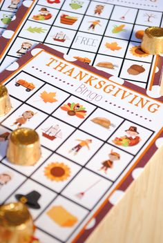 FREE great little bingo card set, for school or to keep the little ones occupied at home on Thanksgiving!