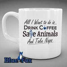 Drink coffee save animals take naps Funny mug Veterinarian Funny Coffee Mug Vet Tech Pet rescueBy Blue Fox Gifts  231 August 12 2015 at 11:18PM