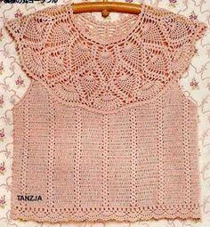 Sweet Nothings Crochet: PINEAPPLES & PEARLS TOP