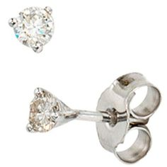 Damen-Stecker 2 Diamant-Brillanten 14 Karat (585) Weißgold 0.25 ct. Dreambase, http://www.amazon.de/dp/B00ANOTPCM/ref=cm_sw_r_pi_dp_.toftb1KGHF4N