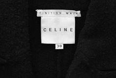Céline, Celine label, Celine tag, garment label, clothing label, branding, product design, brand, brand ID, stylelist.ED, stylelistED.