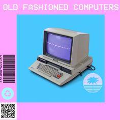 Old Fashioned Computers. Vaporwave art studio by :Digital Water ® Digital River, Vaporwave Art, Technology Lessons, Old Computers, Retro Futuristic, Blue Bloods, Social Media Design, Kpop Aesthetic, Retro Art