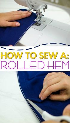 Rolled hems are elegant and professional looking. When working with thin fabrics like silk or any kind of sheer fabric, you'll want to know how to sew a rolled hem. While they are perfect for sewing nice looking blouses, dresses, and kimonos, rolled hems can be tricky to sew. This tutorial makes it easy. #sewing #sewingideas #sewingprojects #easysewingideas #sewingprojectsforbeginners #sewingforbeginners #sewingprojectsforteens #easysewingideas #sewingtips Sewing Hacks, Sewing Tutorials, Sewing Tips, Sewing Basics, Sewing Ideas, Fat Quarter Projects, Sewing Equipment, Leftover Fabric, Love Sewing