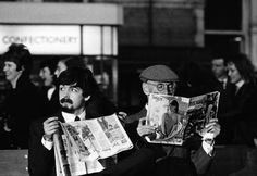 1964 - Paul McCartney and Wilfrid Brambell as John McCartney (Paul's grandfather) in A Hard Day's Night film.