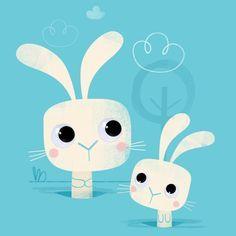 cute bunny illustrations - Google Search