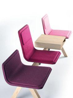Waiting chair on a beam | Laia Colection by Alki | Design Jean-Louis Iratzoki