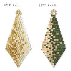 1478 6 types of Diamond Shape Earrings in Brick Stitch (Chebron Earrings Kiwa Seisakusho Beaded Tassel Earrings, Beaded Bracelet Patterns, Peyote Patterns, Jewelry Patterns, Beading Patterns, Seed Bead Jewelry, Seed Bead Earrings, Beading Techniques, Loom Beading