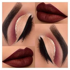 36 Best Maroon Matte Lipstick Shades to Look Stunningly Beautiful ❤ liked on Polyvore featuring beauty products, makeup, lip makeup, lipstick, eyeshadow, eyes and eye look