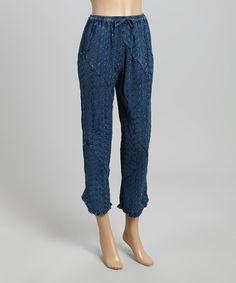 e4f72984b81 Sacred Threads Boutique Indigo Patchwork Capri Pants