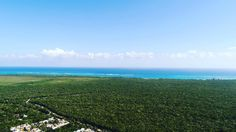 Tulum beach  so close & so far.  This is the first time I flew my drone at 150m.  You can see the beach  along with a lot of jungle