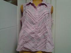 Lane Bryant Size 22 Rosey Pink Button Down Shirt #LaneBryant #ButtonDownShirt #Casual