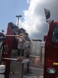 Fire Trucks at the Bday party to help celebrate!
