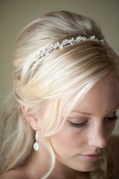 Bridal Headband,  Tiara, Freshwater Pearl and Crystal Headband, Wedding Hair Accessory - YVETTE. $42.00, via Etsy.