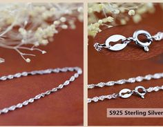 """Wholesale lots 925 Sterling Silver Water wave  18"""" 10pcs Women Chain Necklace #Unbranded #Chain"""