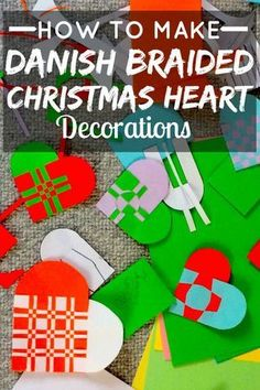 The braided heart is a traditional Danish christmas decoration. Not only are they pretty, they can also be opened and filled with treats as well as hung on the christmas tree. They're surprisingly easy to make. Here's a quick guide so you can make your own 'christmas heart' step by step.
