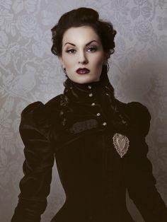 I love this velvet governess jacket.