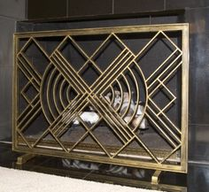 Ornamental Metal Works Projects Art Deco Pattern Fireplace Screens Home
