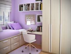 Space Saving for Kids Small Bedroom Design Ideas By Sergi Mengot Workspace and Library in Small Teen Bedroom Design Ideas By Sergi Mengot – Home Designs and Pictures Teenage Girl Bedroom Designs, Girls Room Design, Small Bedroom Designs, Small Room Design, Teenage Girl Bedrooms, Design Bedroom, Teenage Room, Bed Designs, Small Bedroom Interior