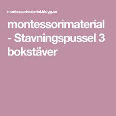 montessorimaterial - Stavningspussel 3 bokstäver