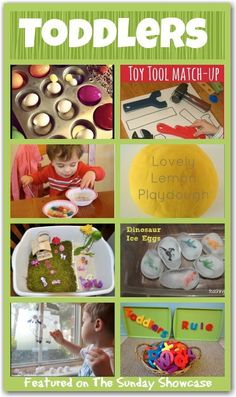 Fun Activities for TODDLERS - some fun ideas for keeping toddlers entertained and learning. Could intemperate in classroom setting Toddler Play, Toddler Learning, Toddler Preschool, Toddler Crafts, Early Learning, Preschool Activities, Kids Learning, Toddler Games, Daycare Crafts
