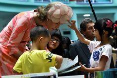 Queen Mathilde, June 26, 2015 in Fabienne Delvigne | Royal Hats