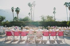 Mid-Century modern reception at the Frank Sinatra Estate in Palm Springs