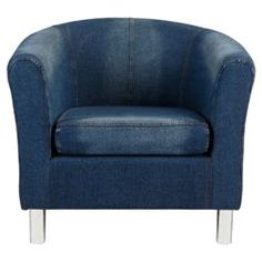 Buy Tub Fabric Accent Chair Denim from our Chaise Longues & Occasional Chairs range - Tesco.com