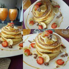 Pancakes sucré aux fruits / sirop d'érable