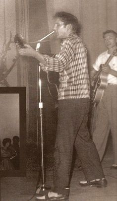 Elvis Presley September 1955 ~ Elvis (seen with Charline Author's guitar) Performed At The - Arkansas Municipal Auditorium Texarkana, AR Miss Tennessee, Memphis Tennessee, Rock And Roll, Nyc, Skeeter Davis, Scotty Moore, Rockabilly Music, Sun Records, Young Elvis