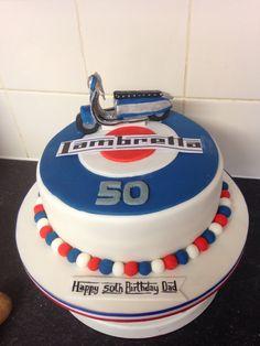Lambretta cake for a fan