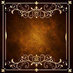 Fondo decorativo dorado