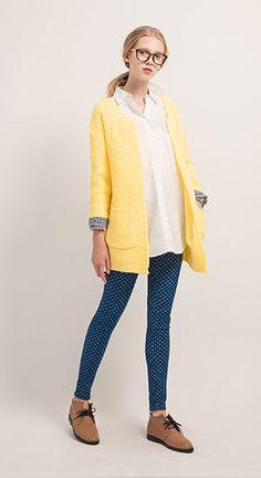 MIT 糖果色系可反折格紋袖襯衫,隨興慵懶粗針織長版罩衫