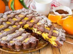 Crostata al cioccolato con crema all'arancia