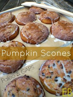 This Pumpkin Scones recipe is Paleo, GAPS, gluten-free and excellent! But freely serve these scones to non-Paleo friends, and let them remark at the velvety texture! Coconut butter is the key ingredient, indeed creating the Paleo Dessert, Dessert Sans Gluten, Healthy Sweets, Dessert Recipes, Scone Recipes, Breakfast Dessert, Paleo Breakfast, Desserts, Gaps Diet Recipes