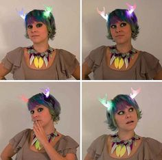 Custom LED Light Up Fantasy Antler Costume Headpiece - Made to Order to Your Specifications on Etsy, $75.00