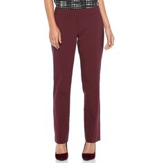 Women's Apt. 9® Torie Straight-Leg Dress Pants, Size: 12 Short, Red