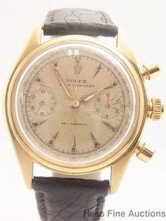 Very Rare Genuine Monoblocco 4500 18k Gold Rolex Chronograph Watch #Rolex #Sport
