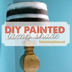DIY painted lamp