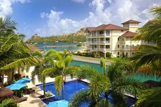 Pool at The Landings St. Lucia / a luxury Caribbean resort