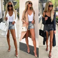 Cute Casual Outfits, Short Outfits, Sexy Outfits, Fashion Outfits, Womens Fashion, Fashion Trends, Stylish Outfits, Spring Summer Fashion, Spring Outfits
