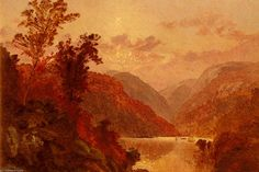 'in the highlands of the hudson' by Jasper Francis Cropsey (1823-1900, United States)