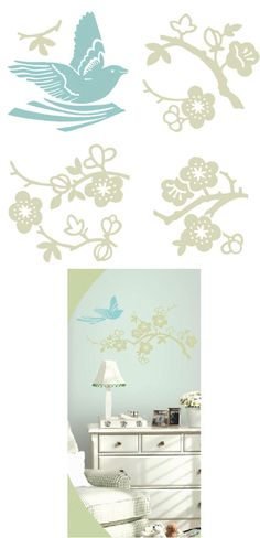 Birds and Blossoms Kidifexs Wall Stickers - Wall Sticker Outlet