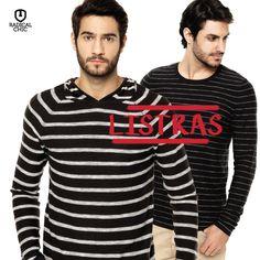 Existem vários tipos de padrões e estampas para todos os gostos e estilos, mas estamos apaixonados pelas camisas listradas <3 Quem curtiu? #ModaMasculina #RadicalChic #CamisaListrada #Frio #Inverno